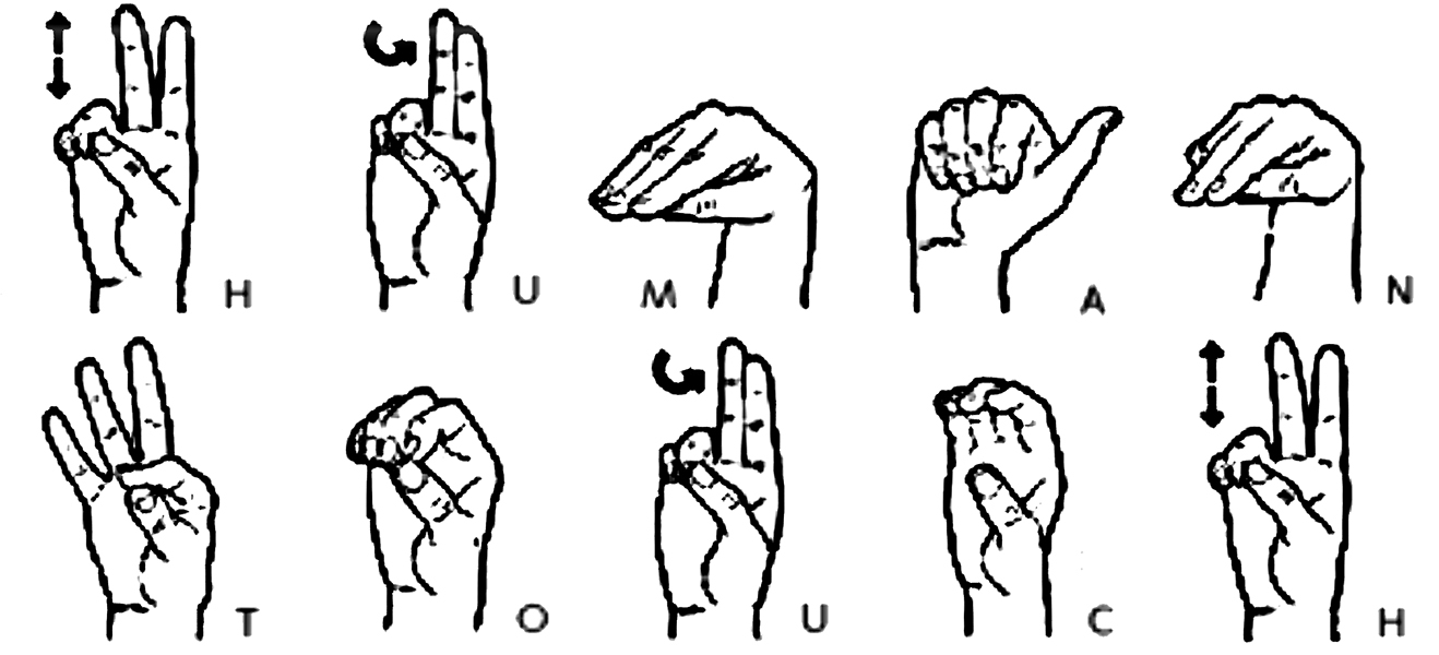 HUMAN TOUCH sign language